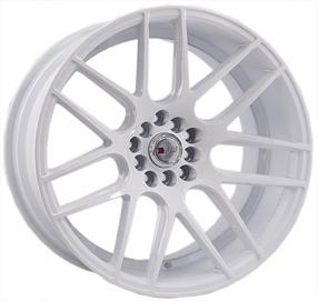 """18"""" F1R Wheels F18 White Rims"""