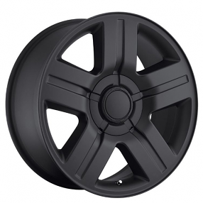 "22"" Chevy Silverado/Suburban Wheels Texas Edition Satin Black OEM Replica Rims"