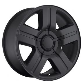 "24"" Chevy Silverado/Suburban Wheels Texas Edition Satin Black OEM Replica Rims"