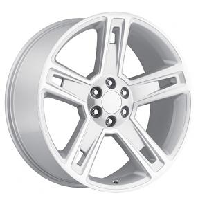 "24"" 2015 Chevy Silverado 1500 Wheels Silver Machine OEM Replica Rims"