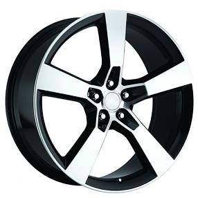 "22"" 2010 Camaro Wheels Black Machined OEM Replica Rims"