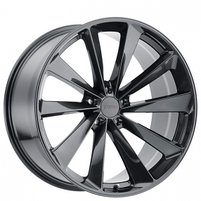 "22"" Staggered TSW Wheels Aileron Metallic Gunmetal Rims"