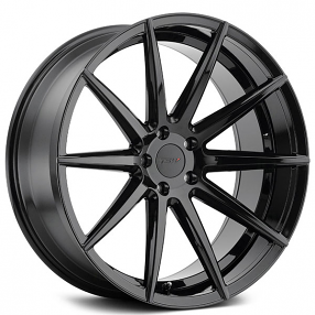 "20"" Staggered TSW Wheels Clypse Gloss Black Rims"