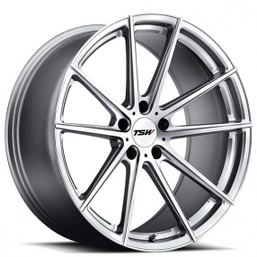 "18"" TSW Wheels Bathurst Silver with Mirror Cut Face Rotary Forged Rims"