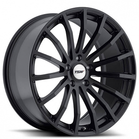 "18"" TSW Wheels Mallory 5 Matte Black Rims"