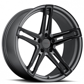 "18"" TSW Wheels Mechanica Matte Gunmetal with Matte Black Face Rotary Forged Rims"