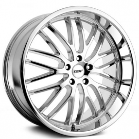"19"" Staggered TSW Wheels Snetterton Chrome Rims"