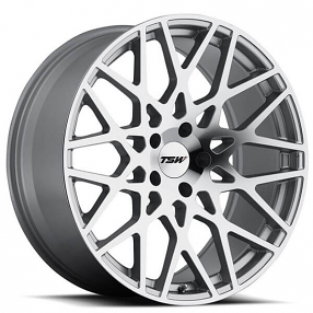 "18"" Staggered TSW Wheels Vale Silver with Mirror Cut Face Rims"