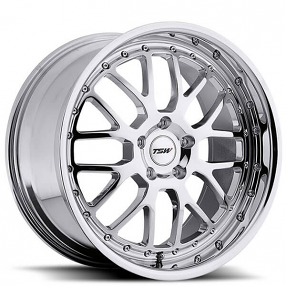 "20"" Staggered TSW Wheels Valencia Chrome Rims"