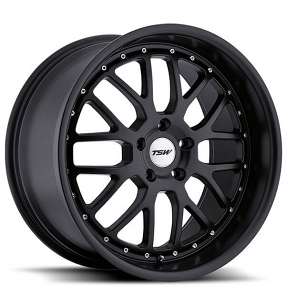 "20"" Staggered TSW Wheels Valencia Matte Black Rims"