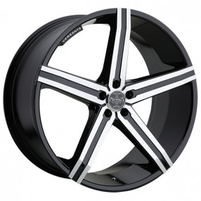 "22"" Versante Wheels VE228 Black Machined Rims"