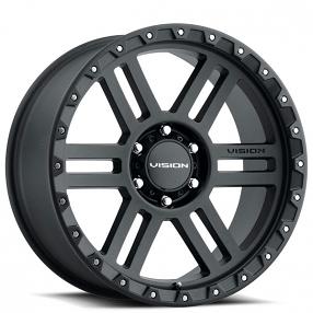 10mm Satin Black Wheel Rim 20 Inch Vision 354 Manx 2 20x9 5x5