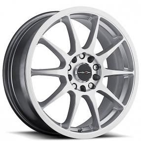 "15"" Vision Wheels 425 Bane Hyper Silver Rims"