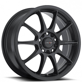 "15"" Vision Wheels 425 Bane Matte Black Rims"