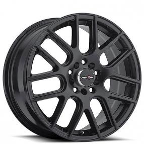 "15"" Vision Wheels 426 Cross Matte Black Rims"