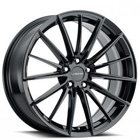 "16"" Vision Wheels 473 Axis Gloss Black Rims"