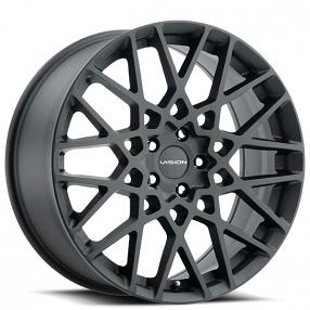 "18"" Vision Wheels 474 Recoil Satin Black Rims"