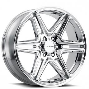 "24"" Vision Wheels 476 Wedge Chrome Rims"