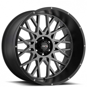 "20"" Vision Wheels 412 Rocker Anthracite with Satin Black Lip Off-Road Rims"