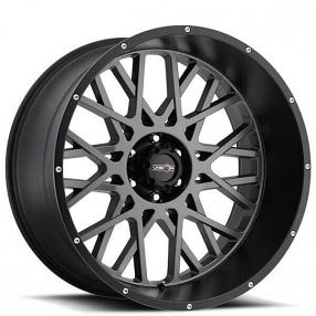 "24"" Vision Wheels 412 Rocker Anthracite with Satin Black Lip Off-Road Rims"