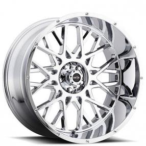 "24"" Vision Wheels 412 Rocker Chrome Off-Road Rims"