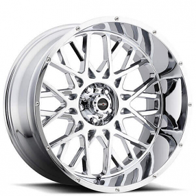 "20"" Vision Wheels 412 Rocker Chrome Off-Road Rims"