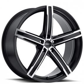 "16"" Vision Wheels 469 Boost Gloss Black Machined Rims"