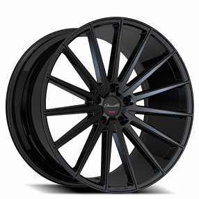 "20"" Staggered Giovanna-Gianelle Wheels Verdi Black Rims"