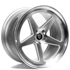 """20"""" Staggered Marquee Wheels 9535 Silver Machined Rims"""