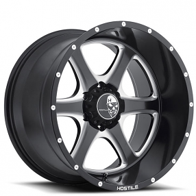 "22"" Hostile Wheels Exile Gloss Black with Milled Accents Rims"