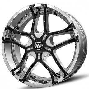 "20x8.5"" Diablo-Gianna Wheels Stealth Chrome Rims"