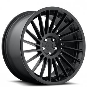 "19"" Staggered Rotiform Wheels R127 IND-T Matte Black Rims"