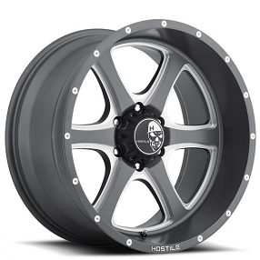 """20"""" Hostile Wheels Exile Anthracite Gray with Milled Accents Rims"""
