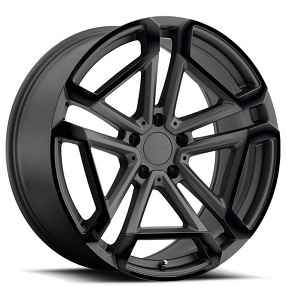 "20"" Staggered TSW Wheels Circuit Matte Gunmetal with Gloss Black Face Rims"