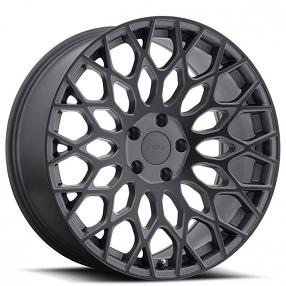 "18"" TSW Wheels Oslo Matte Gunmetal with Matte Black Face Rims"