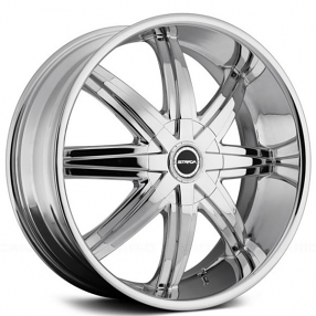 "22x8.5"" Strada Wheels Magia Chrome Rims"