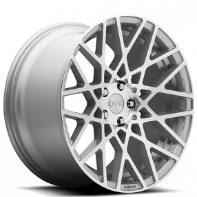 "19"" Staggered Rotiform Wheels R110 BLQ Silver Machined Rims"