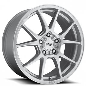 "18"" Niche Wheels M175 Messina Silver Rims"