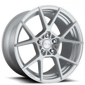 """19"""" Staggered Rotiform Wheels R138 KPS Silver with Brushed Face Rims"""