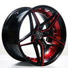 "20"" Staggered MQ Wheels 3259 Black Red Inner Rims Extremely Concave(Reg $1499)"