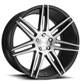 "20"" Staggered Niche Wheels M178 Trento Brushed Gloss Black Rims"