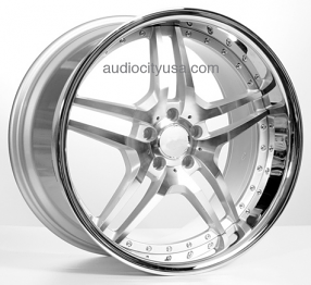"20"" Staggered EMR Wheels EMR2 Silver Machined Rims"
