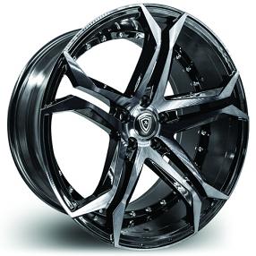 "20"" Marquee Wheels N3284 Black Machined Rims"