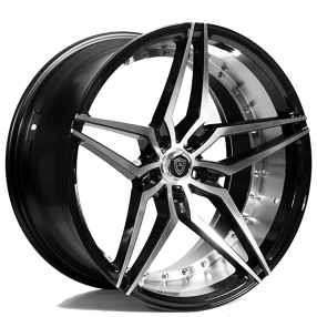 "20"" Marquee Wheels 3259 Black Machined Extreme Concave Rims"