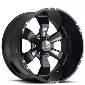 "20"" Hostile Wheels Hammered Satin Black Rims"