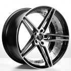 "20"" MQ Wheels 3258 Black W Polish Inner Rims *Deep Concave (Reg $1499)"