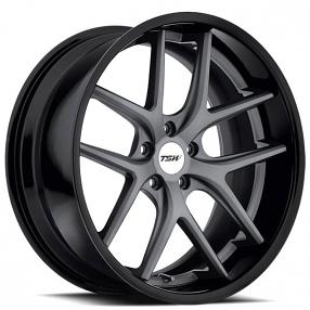"18"" TSW Wheels Portier Matte Gunmetal with Gloss Black Lip Rims"
