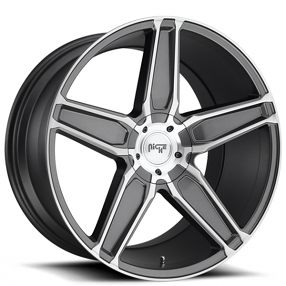 "20"" Staggered Niche Wheels M181 Cannes Anthracite Rims"