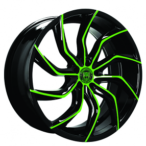 "22"" Staggered Lexani Wheels Matisse Custom Color Rims"