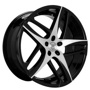 "22"" Staggered Lexani Wheels Bavaria Black Machined Rims"